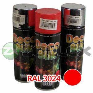 Краска аэрозоль DECO BLIK Красный люминесцентный, 450 мл.
