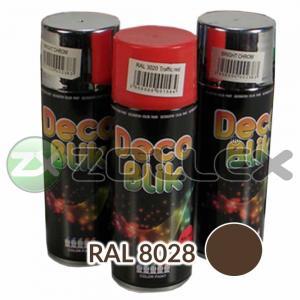 Краска аэрозоль DECO BLIK Коричневый темный, 450 мл.