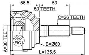 ШРУС наружный HONDA HR-V 1.6 99>