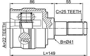 ШРУС наружный HYUNDAI SOLARIS (SB) 10- / i30 (FD) 1.4/1.6 07-11 / KIA RIO III 11- / CERATO II SED 1.6 09- / + ABS