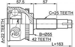 ШРУС наружный NISSAN Almera(N15) 1.6-2.0D 95-00/Sunny 1.6-2.0 92-95