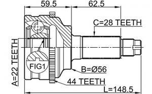 ШРУС наружный KIA Spectra 1.5 (ABS) 00>, MAZDA Xedos/626 1.8 97-99