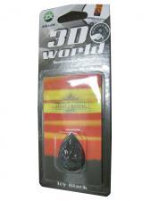 Ароматизатор серия 3D World - Icy Black(черный)