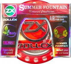 Ароматизатор  гелевый на приборную панель Summer Fountain, 80ml,  Zollex