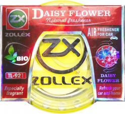 Ароматизатор  гелевый на приборную панель Daisy Flower, 80ml,  Zollex