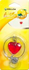 """Ароматизатор в машину подвесной  Сердце  Lemon,  Zollex"""""""""""