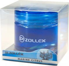 Ароматизатор  гелевый на приборную панель Marine citrus, Zollex